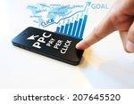 pay per click concept | Shutterstock . vector #207645520
