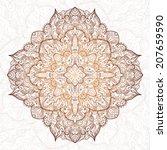 vintage vector hand drawn... | Shutterstock .eps vector #207659590