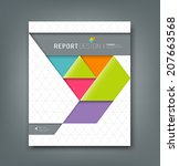 cover report colorful origami... | Shutterstock .eps vector #207663568