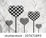 Love Checkered  Flag Sign Heart ...