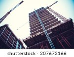 crane and building construction.... | Shutterstock . vector #207672166