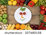Healthy Eating Smiling Face...