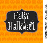 cute halloween invitation or... | Shutterstock .eps vector #207681856