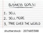 funny steps for business... | Shutterstock . vector #207685588