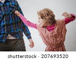 Little Girl Punching Man In...