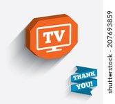 widescreen tv sign icon.... | Shutterstock .eps vector #207693859