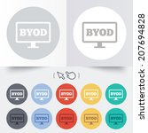 byod sign icon. bring your own... | Shutterstock .eps vector #207694828