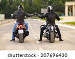 Two Bikers Ot Motocycles...