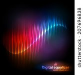 vector digital equalizer with... | Shutterstock .eps vector #207696838