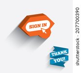 sign in with cursor pointer... | Shutterstock .eps vector #207700390
