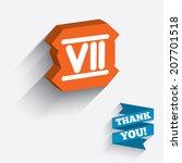 roman numeral seven sign icon.... | Shutterstock .eps vector #207701518