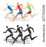 running race. runner on the... | Shutterstock .eps vector #207702340