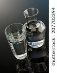 glass and bottle of water | Shutterstock . vector #207702394
