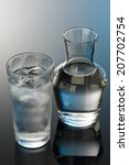 glass and bottle of water | Shutterstock . vector #207702754