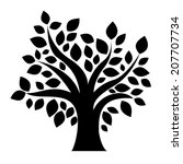 tree isolated on a white... | Shutterstock .eps vector #207707734