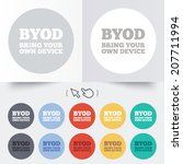 byod sign icon. bring your own...   Shutterstock .eps vector #207711994