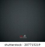 carbon metallic texture... | Shutterstock .eps vector #207715219