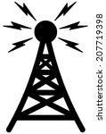 communication tower  | Shutterstock .eps vector #207719398