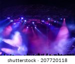 vector stage spotlight with... | Shutterstock . vector #207720118