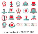first place winner and best... | Shutterstock .eps vector #207731200