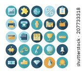 flat design icons for business...