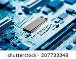 close up of electronic circuit... | Shutterstock . vector #207733348