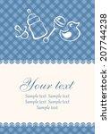 baby card. baby arrival... | Shutterstock .eps vector #207744238