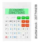 calculator with economic...   Shutterstock . vector #207744658