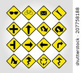 signage signs. | Shutterstock .eps vector #207758188