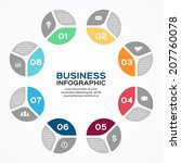 vector circle infographic.... | Shutterstock .eps vector #207760078