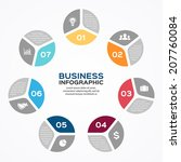 vector circle infographic.... | Shutterstock .eps vector #207760084