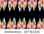coloured pencils | Shutterstock . vector #207761323