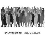 group of people | Shutterstock .eps vector #207763606