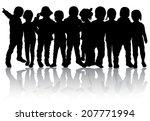 group of children | Shutterstock .eps vector #207771994