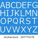 set   the english alphabet from ... | Shutterstock . vector #207774178