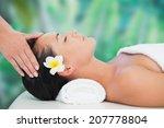 beautiful brunette enjoying a...   Shutterstock . vector #207778804