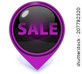 sale pointer icon on white... | Shutterstock . vector #207782320