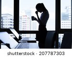 stressed business woman. | Shutterstock . vector #207787303