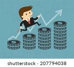 businessman and money bar | Shutterstock .eps vector #207794038