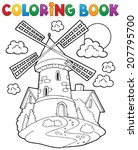 coloring book windmill 1  ... | Shutterstock .eps vector #207795700