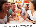 group of friends enjoying... | Shutterstock . vector #207800938