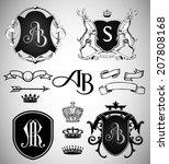 vintage crests  ribbons ... | Shutterstock .eps vector #207808168
