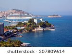 morning view of kusadasi turkey  | Shutterstock . vector #207809614