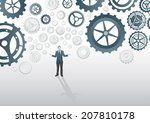 digitally generated businessman ... | Shutterstock .eps vector #207810178