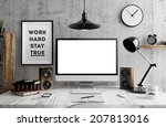 screen in room | Shutterstock . vector #207813016