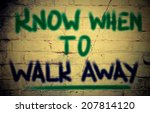 know when to walk away concept | Shutterstock . vector #207814120