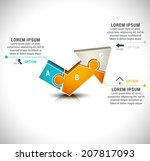 vector illustration of business ... | Shutterstock .eps vector #207817093