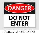 danger do not enter sign vector ... | Shutterstock .eps vector #207820144