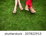 couple lying and relaxing on... | Shutterstock . vector #207822913