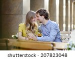 young couple in the outdoor... | Shutterstock . vector #207823048